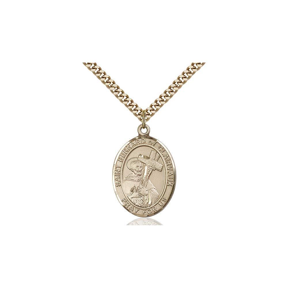 DiamondJewelryNY 14kt Gold Filled St Bernard of Clairvaux Pendant