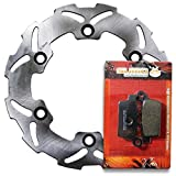 Sumo - Honda Rear Stainless Steel Brake Disc Rotor + Pads for CR125 R CR250 R CR500 R (1987-1988) Motorcycle