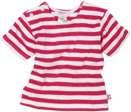 Zutano Primary Stripe T Shirt, Fuchsia/White, 24 Months (18 24 months) by Zutano