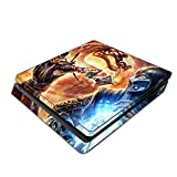 Decorative Video Game Skin Decal Cover Sticker for Sony PlayStation 4 Slim Console PS4 - Mortal Kombat