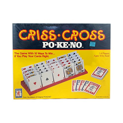 - Vintage Bicycle Games Criss-Cross Po-Ke-No Poker Game 1-4 Players Solitaire