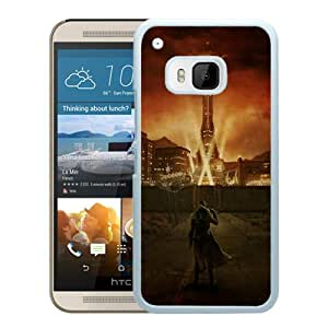 Newest And Fashionable HTC ONE M9 Case Designed With fallout city light character sky White HTC ONE M9 Screen Cover High Quality Cover Case