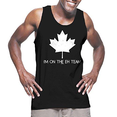 Men's I'm On The Eh Team Tank Top (Black, X-Large)