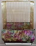 Penn Seed Seed Guard and Catcher Bird Cage Skirt - Jewel Paisley (Extra Large (56''-112'' Cage Circumference))