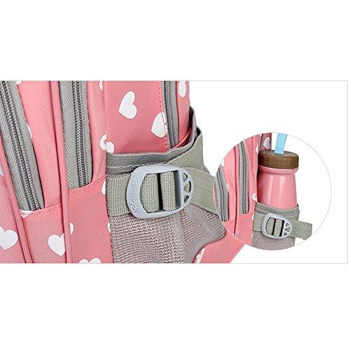 Abshoo Kids Child Heart Printed Backpacks Cute Girls School Bag (Purple)