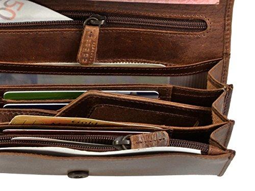 Ca Portafogli 17 design Antico X Marrone 5 Außen Cm 5 3 9 Bear 0 ZUXSqcS