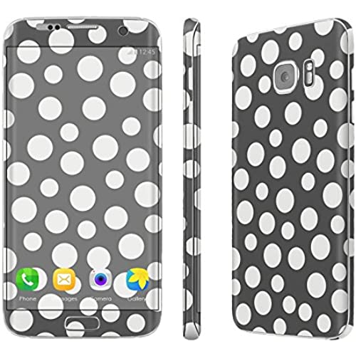 Galaxy [S7 Edge] Skin [NakedShield] Scratch Guard Vinyl Skin Decal [Full Body Edge] [Matching WallPaper] - [Dancing Polka Dot] for Samsung Galaxy Sales