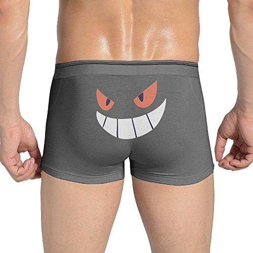 Men's Underwear Gengar Halloween Face Low-Rise Briefs (David Beckham Underwear For Men)