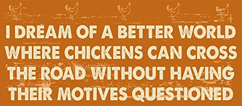 (Chicken Crossing The Road Motives Metal Sign, Humor, Poultry, Coop, Country Home, Farm)