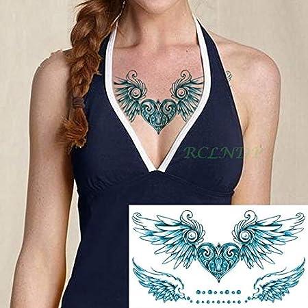Tatuaje Impermeable de la Etiqueta engomada 4pcs Seno de Cristal ...