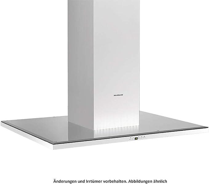 Silverline Slim Isola SLI 900 S - Tapa para isla (acero inoxidable, cristal negro, 90 cm): Amazon.es: Grandes electrodomésticos