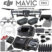 DJI Mavic Pro Quadcopter Drone with 4K Camera - 2 Battery Advanced Bundle