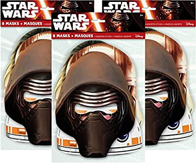 Star Wars Party Masks, 8ct (3 pack)
