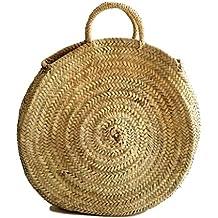 Round Straw Bag, Beach bag, French market basket, Handwoven Straw bag #frenchmarket #roundbasket #roundstrawtote