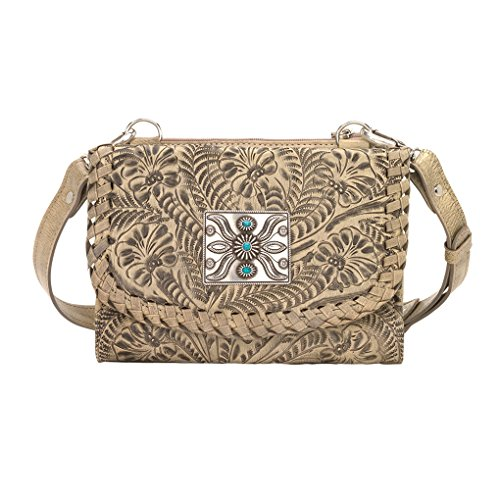 American West Women's Two Step Small Crossbody Bag Sand One Size