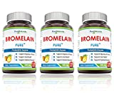 Pure Naturals Bromelain Dietary Supplement - 500mg, 120 Enzyme Tablets Per Bottle – Supports Healthy Digestion, Anti- Inflammatory Support 3 Pack