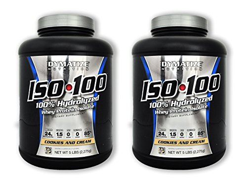 ISO 100 - Cookies & Cream - 5 lb (2 Pack) (Iso Dymatize 100 Cookies)