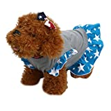Hot Sale! OOEOO Summer Pet Puppy Dress Small Dog Cat Star Vest Skirt Apparel Clothes (Blue, L)