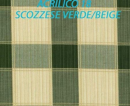 Beige Coppia Cuscino Dondolo 4 POSTI in Tessuto Acrilico TEMPOTEST Impermeabile CM 180X60//50H8 Oppure su Misura Personalizzato