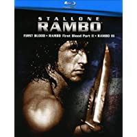 Rambo 1-3 [Blu-ray] [Importado]
