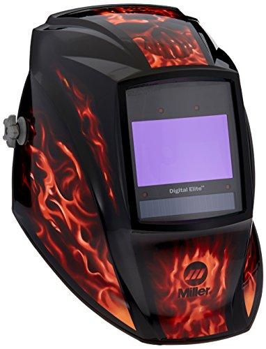 Auto Darkening Welding Helmet, Black/Orange, Digital Elite, 3, 5 to 8 / 8 to 13 Lens Shade
