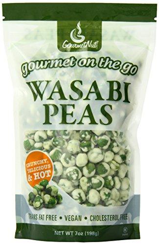 Natural Wasabi Peas (Gourmet Nut Snack Bag, Wasabi Peas, 7 Ounce)