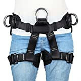HandAcc Climbing Harness, Professional Mountaineering Safety Belt with Magnesium Alloy Connection Ring, Outdoor Momentum Harness for Rock Climbing, Fire Rescue, Expanding Training