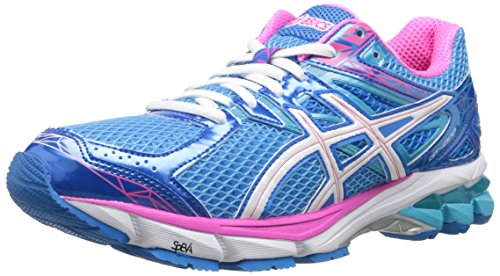 (ASICS Women's GT-1000 3 Running Shoe,Turquoise/White/Hot Pink,6 M US)