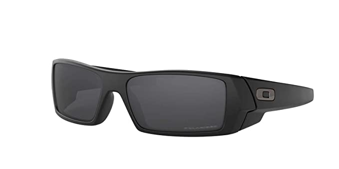 552961bea3 Oakley Mens Gascan Sunglasses (OO9014) Black Matte Grey Plastic - Polarized  - 61mm