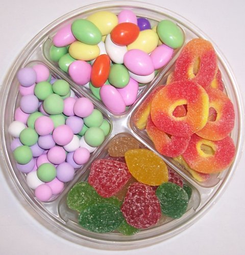 Scott's Cakes 4-Pack Jordan Almonds, Chocolate Dutch Mints, Peach Rings, & Pectin Fruit Gels by Scott's Cakes (Image #1)'