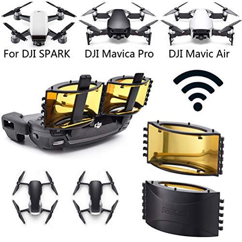 YANSHON Foldable Drone Signal Booster, Range Extender Transmitter Signal Extend Aluminum Parabolic Radar Antenna Range Booster Compatible with JI Mavic Pro/Mavic Air/Spark