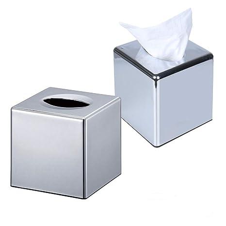 Caja de pañuelos de CROWNSTARQI, para guardar servilletas, pañuelos desechables, accesorio de baño