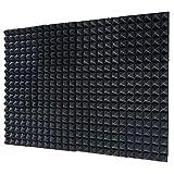 12 Pack Set Acoustic Foam Panels, Studio Wedge Tiles, 2' X 12' X 12' Acoustic Foam Sound Absorption...
