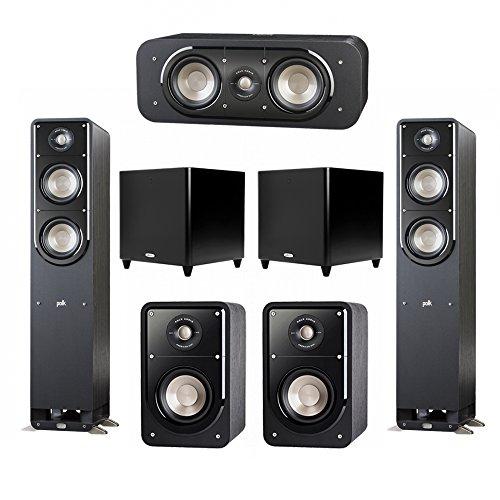 Best of Polk Audio Signature 5.2 System with 2 S50 Tower Speaker, 1 Polk S30 Center Speaker, 2 Polk S15 Bookshelf Speaker, 2 Polk DSW PRO 660 wi Subwoofer