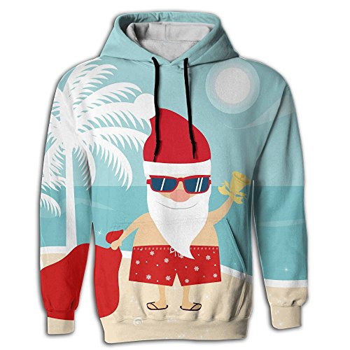 Christmas Vaction - OhikQhik Men's Christmas Vaction Realistic 3d Digital Print Pullover Hoodie Hooded Sweatshirt