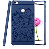 SGC TM Hybird Anti-knock 360 Armor 3D Carved Dragon Protector Shell Slim Armor Shock Proof Skin Back Case Cover for Xiaomi Mi Max - Blue