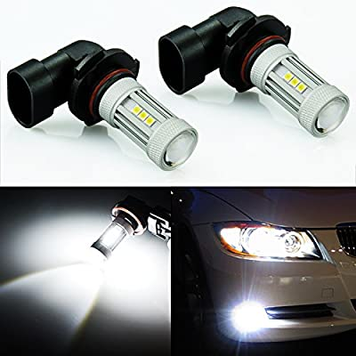JDM ASTAR 1300 Lumens Extremely Bright 3030 Chipsets H10 91450 9140 LED Bulbs for DRL or Fog Lights, Xenon White