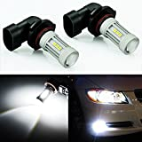 jeep liberty 2002 fog lights - JDM ASTAR 2600 Lumens Extremely Bright 3030 Chipsets H10 91450 9140 LED Bulbs for DRL or Fog Lights, Xenon White (H10 9145 9140)