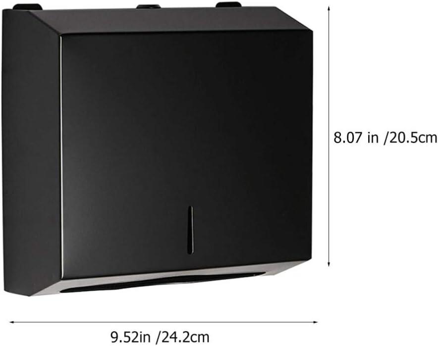 Cabilock Wand-Badetaschenspender C Falter Papierhandtuchspender Mehrfach-Handtuchspender Schwarz