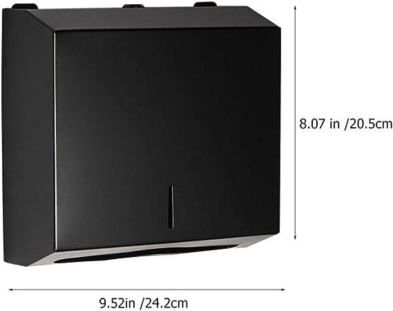 color negro Dispensador de toallas de papel para pared Cabilock C Falter