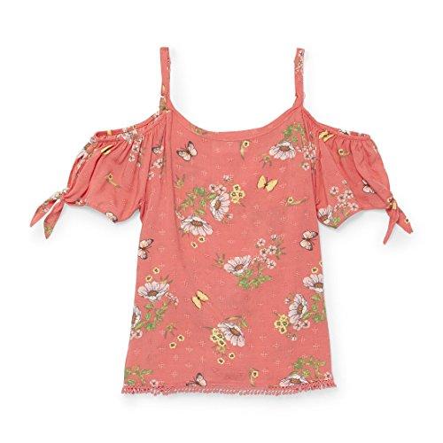 The Children's Place Big Girls' Short Sleeve Fashion Top, Peach jam 2929, XS (4)