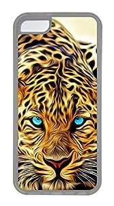 iPhone 5c case, Cute Painting Leopard iPhone 5c Cover, iPhone 5c Cases, Soft Clear iPhone 5c Covers
