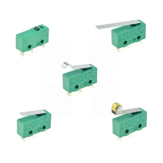 3 Pins Micro Limit Switches NO+NC SPDT 3A/5A 250VAC Mini ...