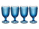Mikasa Italian Countryside Iced Beverage Glass, Blue, 13-Ounce, Set of 4