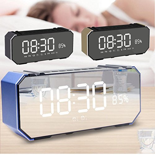 Price comparison product image Wireless Bluetooth Speaker,  Boofab Outdoor Portable Stereo Speaker Card Alarm Clock and Display,  Built-In Dual Driver Speakerphone,  Bluetooth 4.2,  Handsfree Calling,  TF Card Slot (A)
