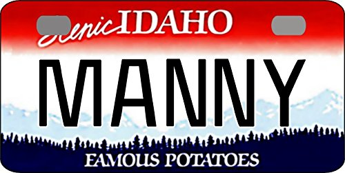 Idaho License Plate - Personalized Idaho 1991 Bicycle Replica License Plate With Any Name