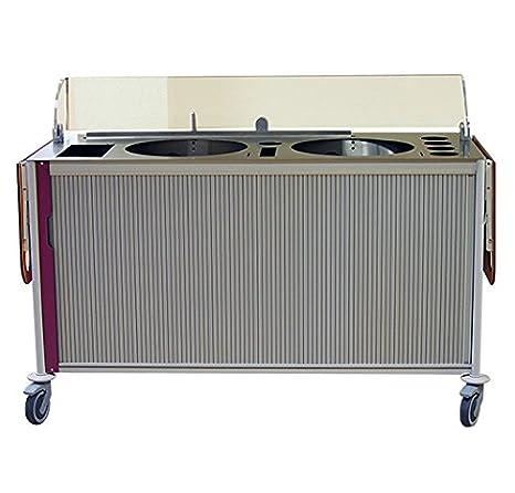 Crepes de Francia - Mueble Crepera para crêperie Mobile comida para llevar de crepes - mobil crepes 2 C - 65 x 150 x 90 cm estructura aluminio botonera ...