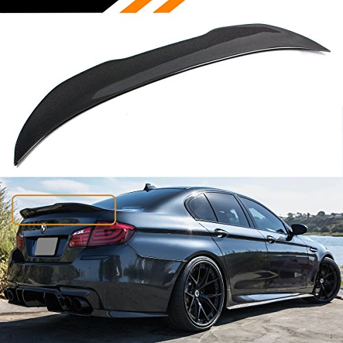 (Cuztom Tuning for 2011-2016 BMW F10 528i 535i 535d 550i M5 Carbon Fiber PSM Style High Kick Trunk Spoiler)