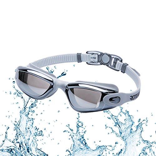 Swimming Goggles Roterdon Glasses Goggle Anti Fog UV Protect