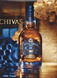 PRINT AD For 2009 Chivas Regal 18 Year Scotch At Cristal Room Baccarat, Paris
